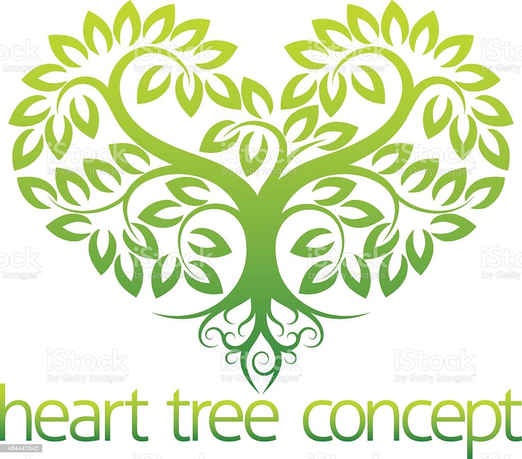 Heart tree concept vector art illustration
