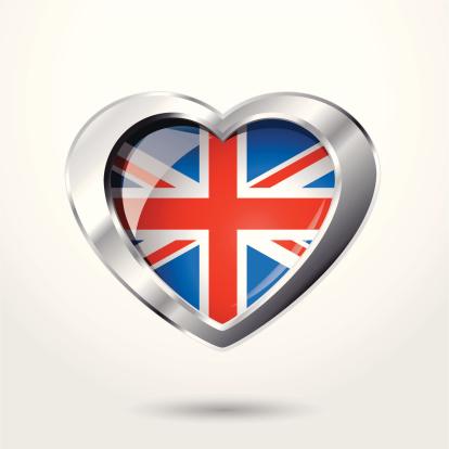 Heart UK flag chrome.