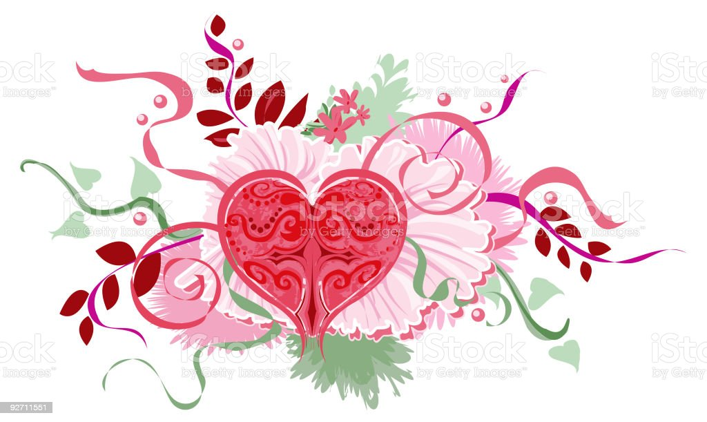 Heart Valentine Bouquet Stock Vector Art & More Images Of