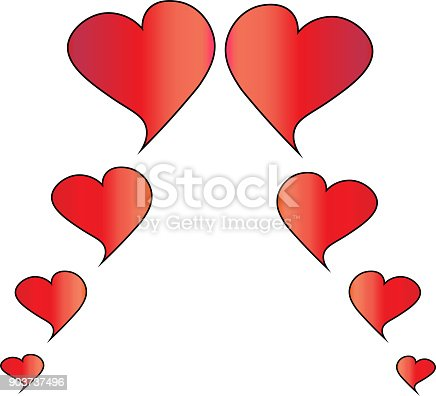 istock Heart vector for decoration on the day of San Valentino. 903737496
