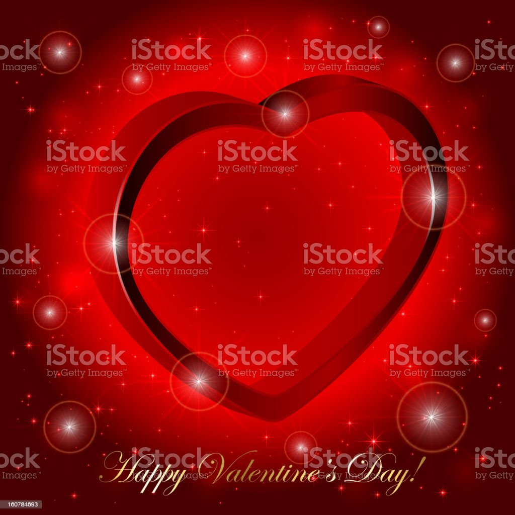 3D heart royalty-free stock vector art