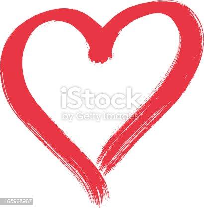 Heart shape, brush stroke