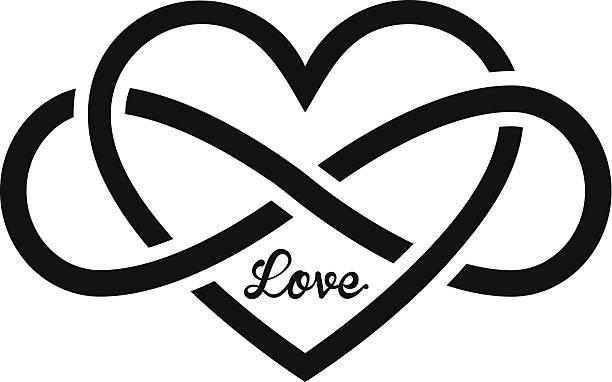 heart an editable vector file with heart shape eternity stock illustrations