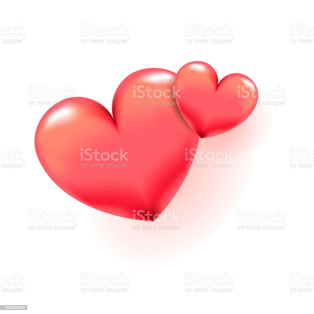 3d Herzvektorillustration Zum Valentinstag Liebe Hochzeit Muttertag Oder Andere Feiertage Die Im Zusammenhang Mit Liebe Für Poster Banner Logo Symbol