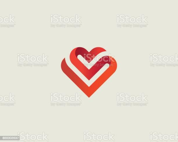 Heart vector symbol valentines day ribbon logotype abstract line vector id655303532?b=1&k=6&m=655303532&s=612x612&h=l7japt2zgv6offgmgqvoge4z471xrepacv6v7l6xv2e=
