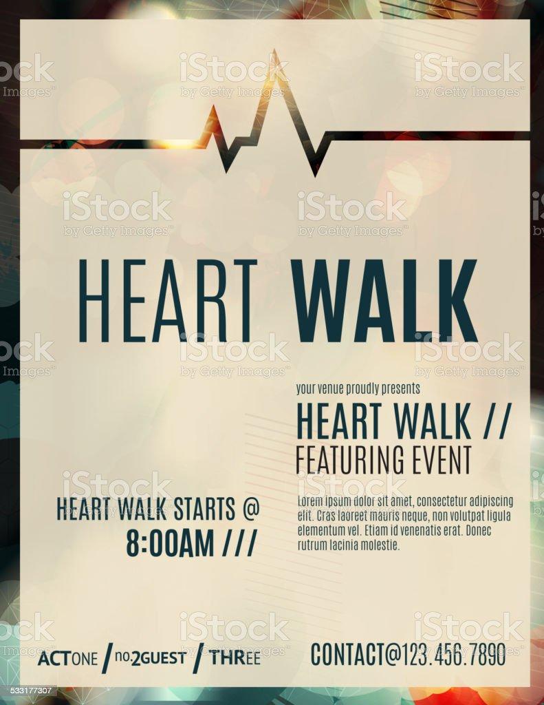 Heart Walk Fundraiser Flyer Template stock vector art 533177307 – Fundraiser Flyer Template
