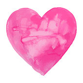 A vector illustration of a hand painted watercolor heart. Perfect for Valentines Day.