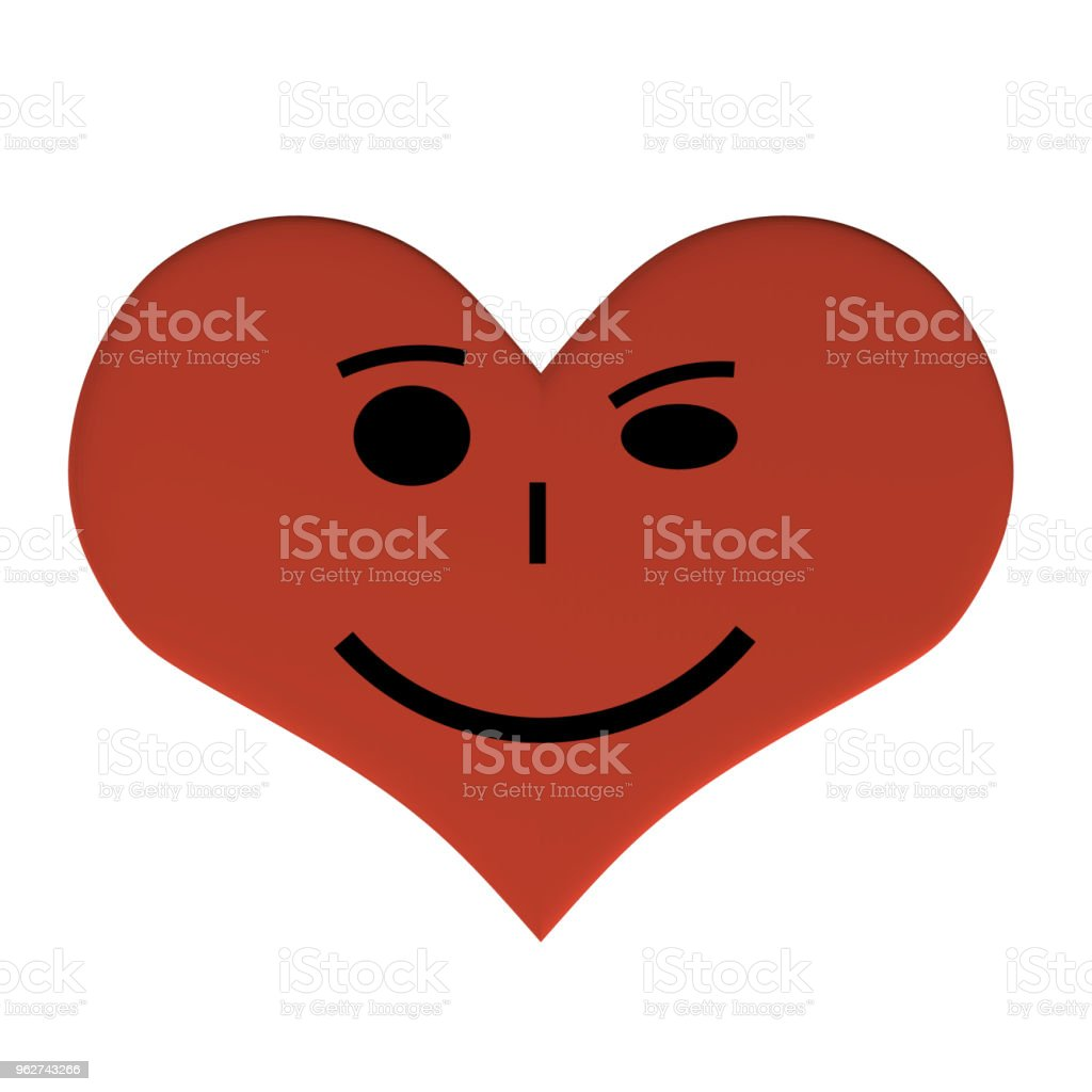 Heart with a face - arte vettoriale royalty-free di Allegro