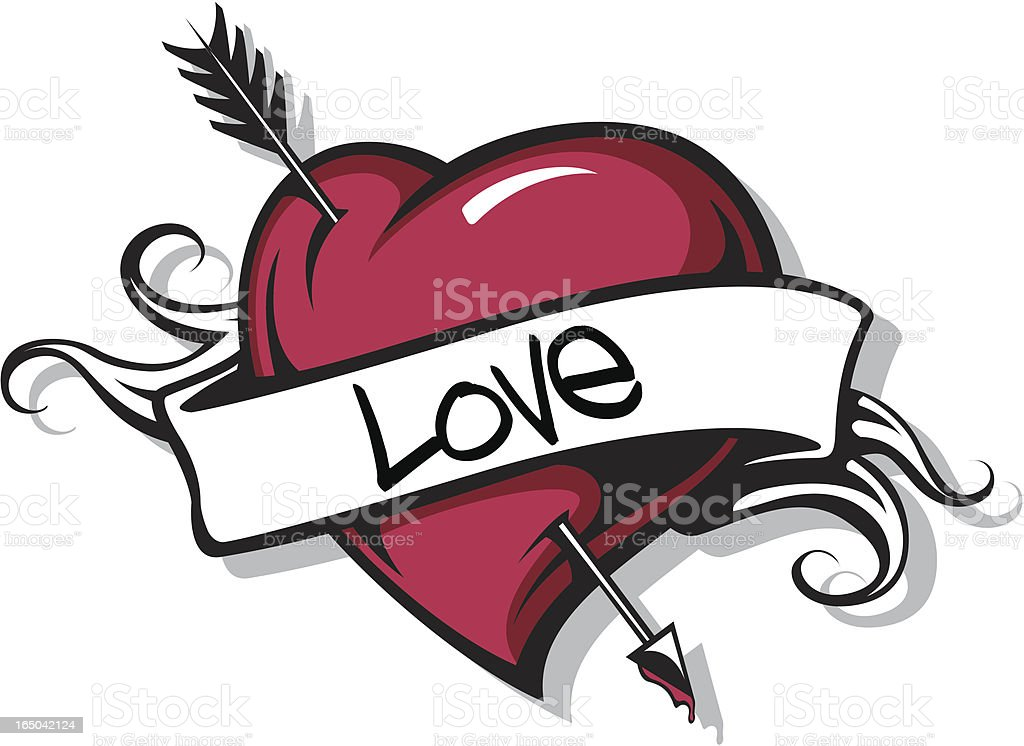 Heart with Arrow vector art illustration