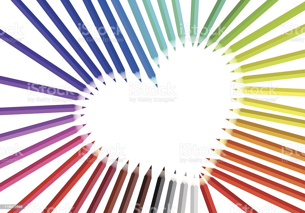 heart with color pencils royalty-free heart with color pencils stock vector art & more images of abstract