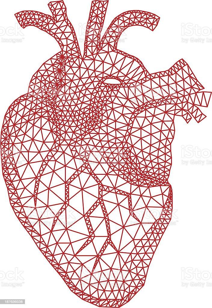 heart with geometric pattern, vector vector art illustration