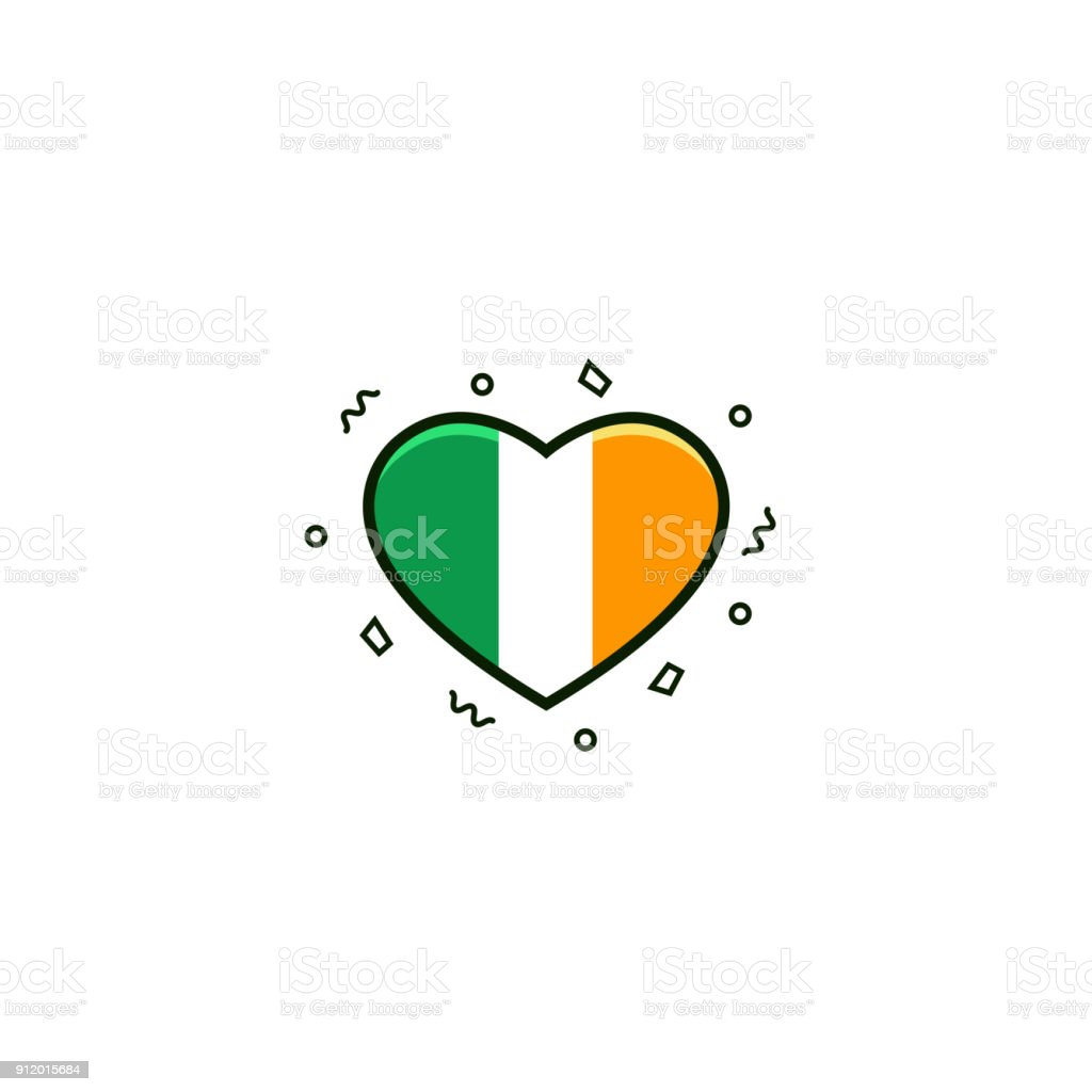 With Irish Tricolour Flag Flat Color Line Icon On ... on scenes of ireland, views of ireland, vintage old maps, men of ireland, queen of ireland, republic of ireland, beauty of ireland, country of ireland, art of ireland, states of ireland, vintage map scotland, vintage map art, prince of ireland, vintage map england, countryside of ireland, pocket maps of ireland, pottery of ireland, economy of ireland, princess of ireland, vintage maps of philadelphia,