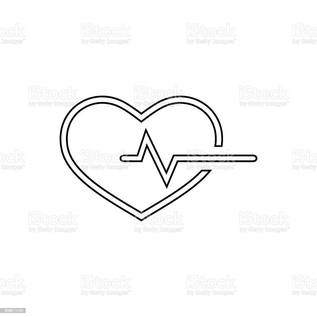 Heart With Life Line Vector Icon Stock Vector Art More Images Of