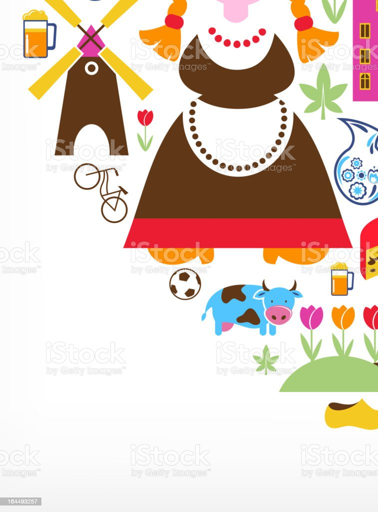 Heart with Netherlands vector icons vector art illustration