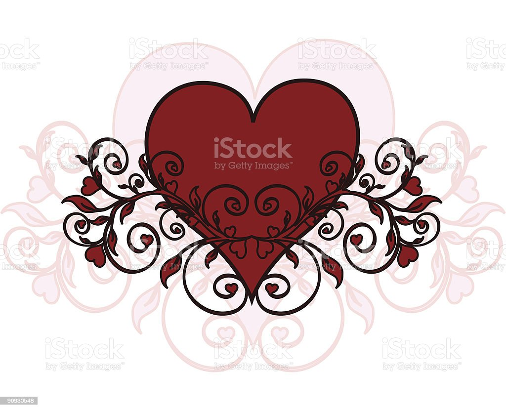 heart with ornament royalty-free heart with ornament stock vector art & more images of abstract