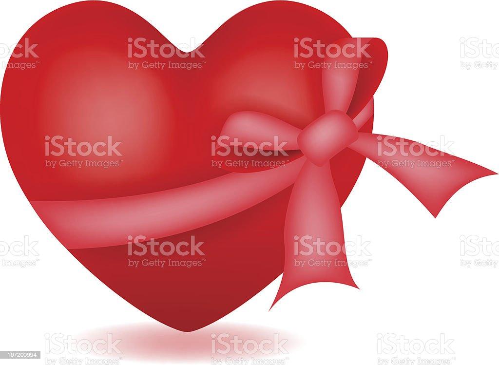 Heart with ribbon royalty-free stock vector art
