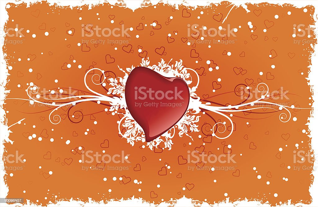 Heart with swirls. Vector illustration royalty-free heart with swirls vector illustration stock vector art & more images of anniversary