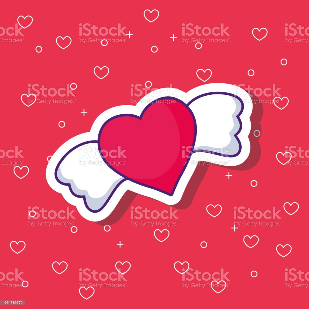 heart with wings design royalty-free heart with wings design stock vector art & more images of abstract