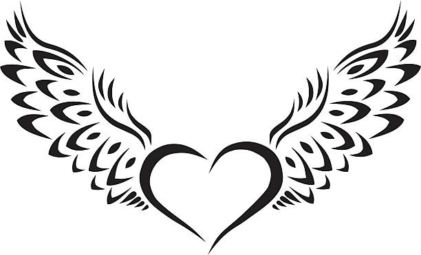 Silhouette Of Gothic Hearts Illustrations, Royalty-Free ...