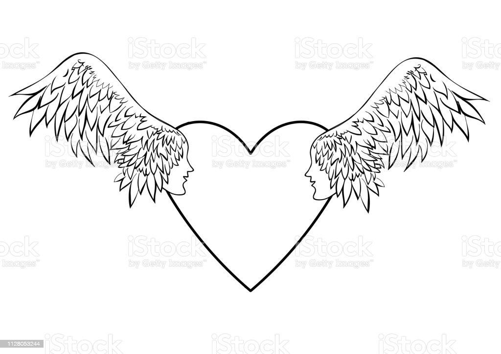 Engel mit flügel tattoo