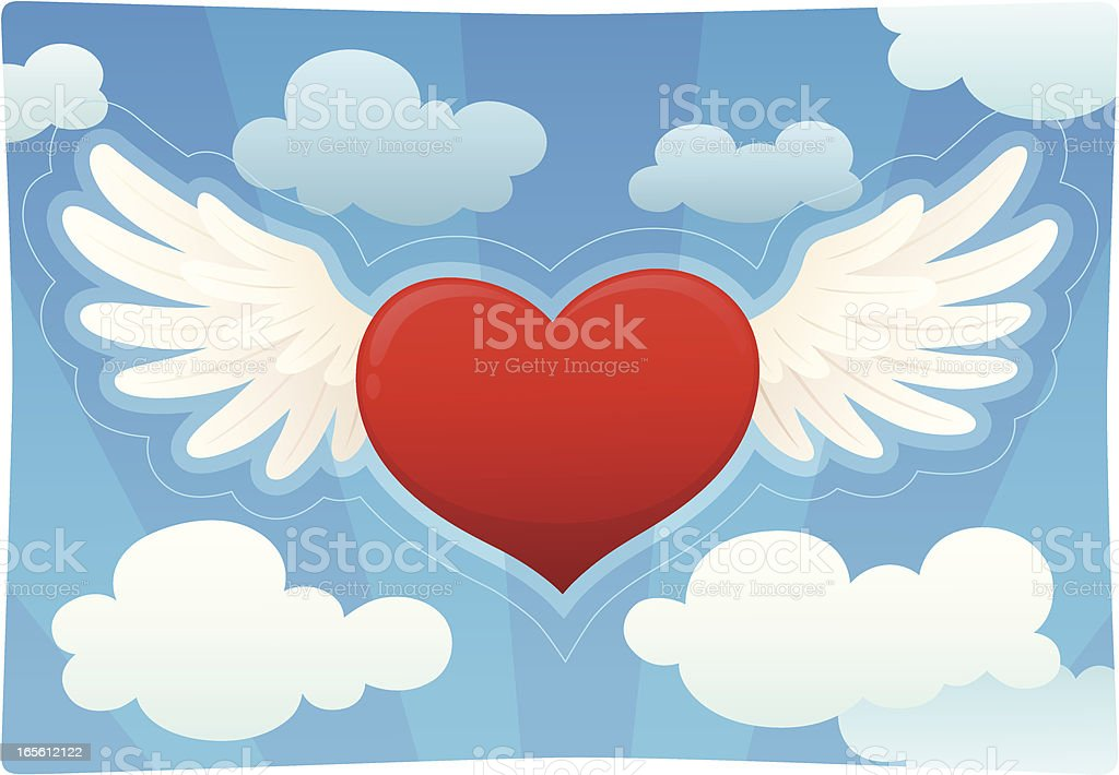 Heart With Wings royalty-free heart with wings stock vector art & more images of animal body part
