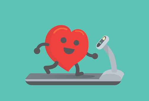 Healthy heart stock illustrations