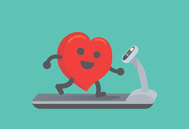 Healthy heart stock illustrations