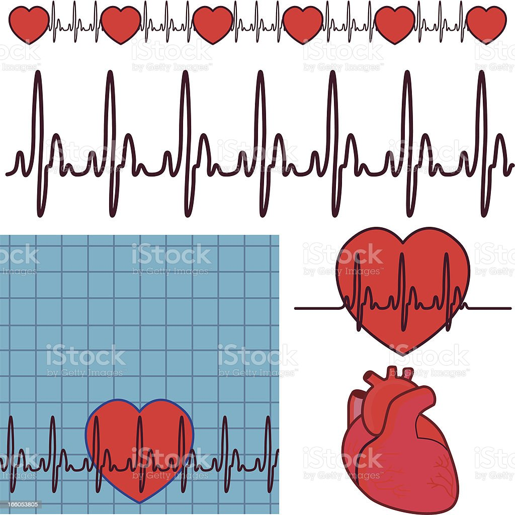 heartbeat design elements royalty-free stock vector art