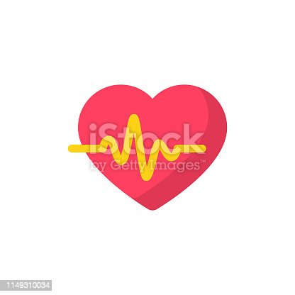 Heartbeat Flat Icon.