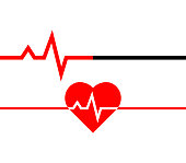 Heartbeat icon. Heart beat line in linear style. Medical icon. Vector illustration