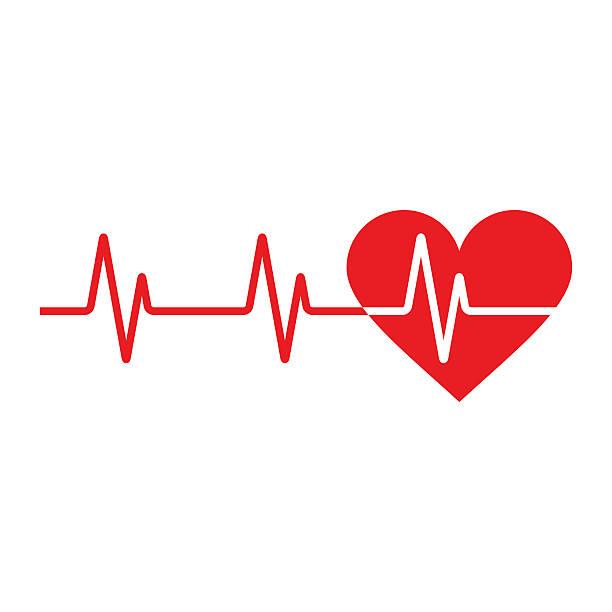Heartbeat icon Heartbeat icon. Electrocardiogram, ecg or ekg isolated on white background taking pulse stock illustrations