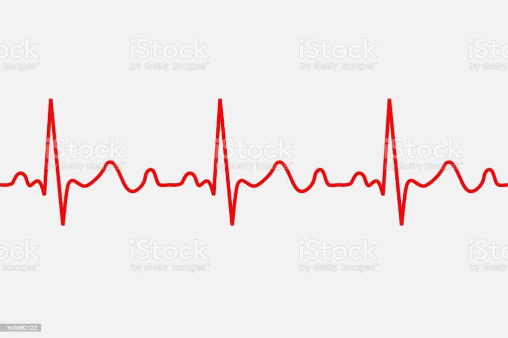 heartbeat icon. vector art illustration
