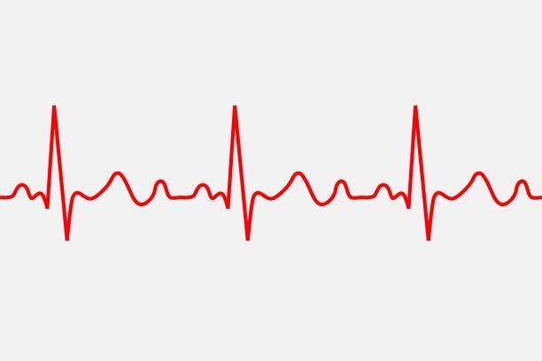 heartbeat icon. - rytm stock illustrations