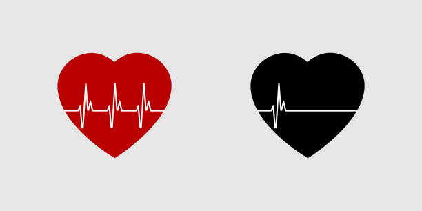 Heartbeat life or dead. Red and black heart with palpitation. Red heartbeat, line of life and black heartbeat, line of death. Eps10 Heartbeat life or dead. Red and black heart with palpitation. Red heartbeat, line of life and black heartbeat, line of death. Eps10 dead stock illustrations