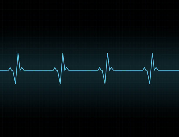 illustrazioni stock, clip art, cartoni animati e icone di tendenza di heartbeat line background icon. - elettrocardiogramma