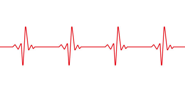 illustrazioni stock, clip art, cartoni animati e icone di tendenza di heartbeat line. pulse trace. ekg and cardio symbol. healthy and medical concept. vector illustration. - elettrocardiogramma