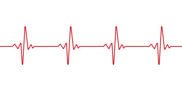 하트 비트 라인. 펄스 트레이스. ekg 및 심장 기호. 건강 하 고 의료 개념입니다. 벡터 일러스트입니다. - 맥박 추적 stock illustrations