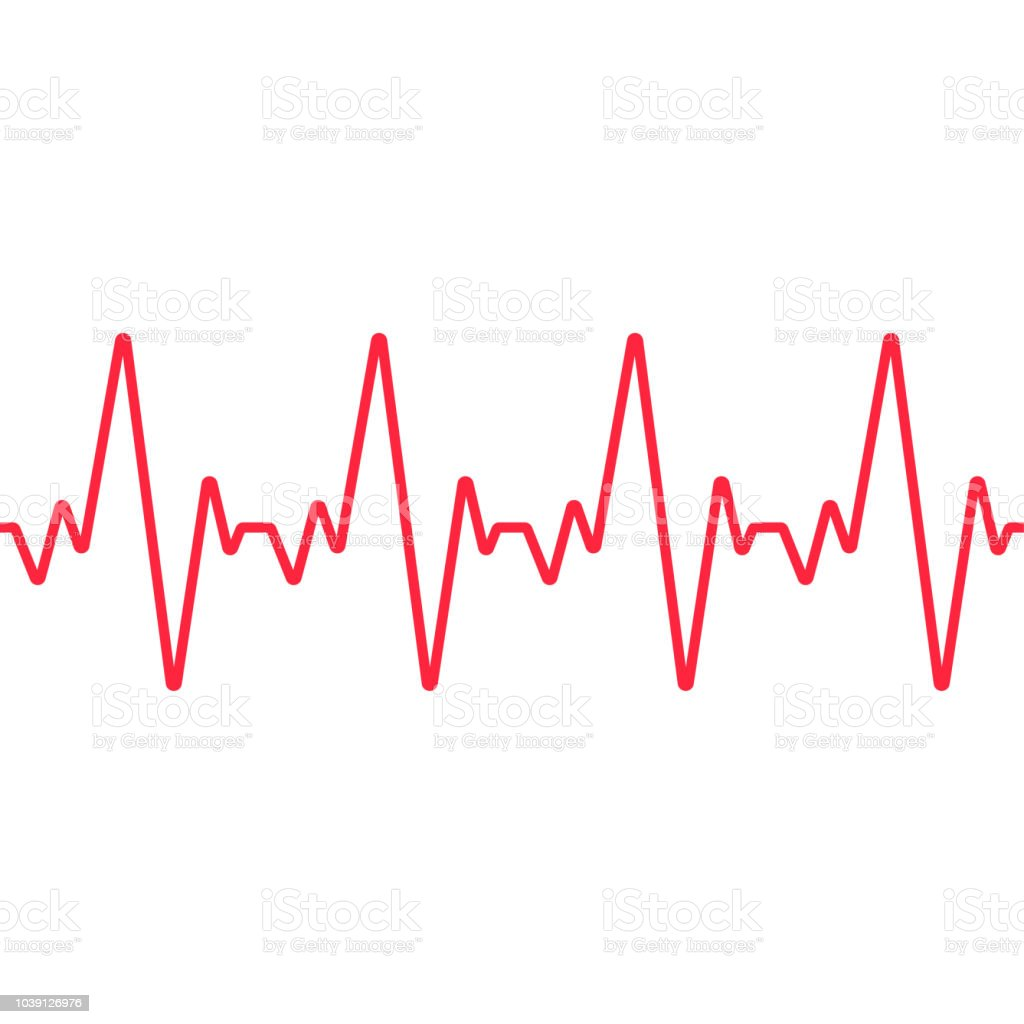 Heartbeat Line Drawing: Heartbeat Line Seamless Background Vector Stock