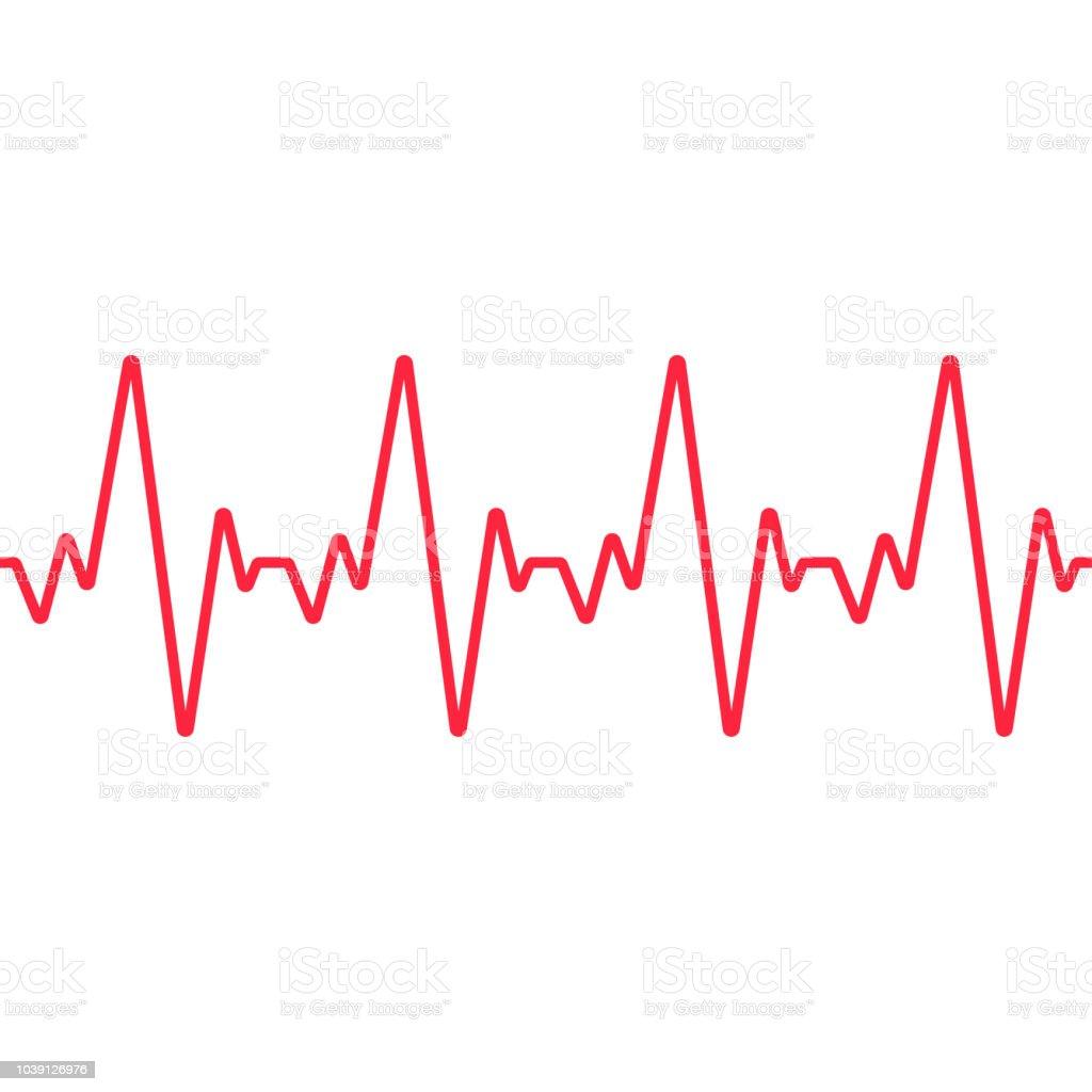 Heartbeat line. Seamless background. Vector vector art illustration