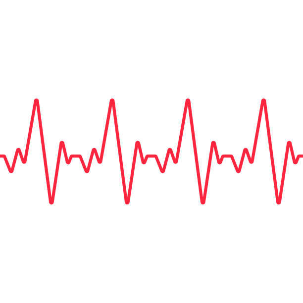 Heartbeat line. Seamless background. Vector Heartbeat line. Seamless background. Vector pulse trace stock illustrations