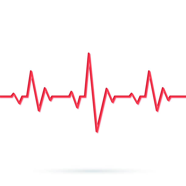 Heartbeat Line Art : Royalty free heartbeat line clip art vector images