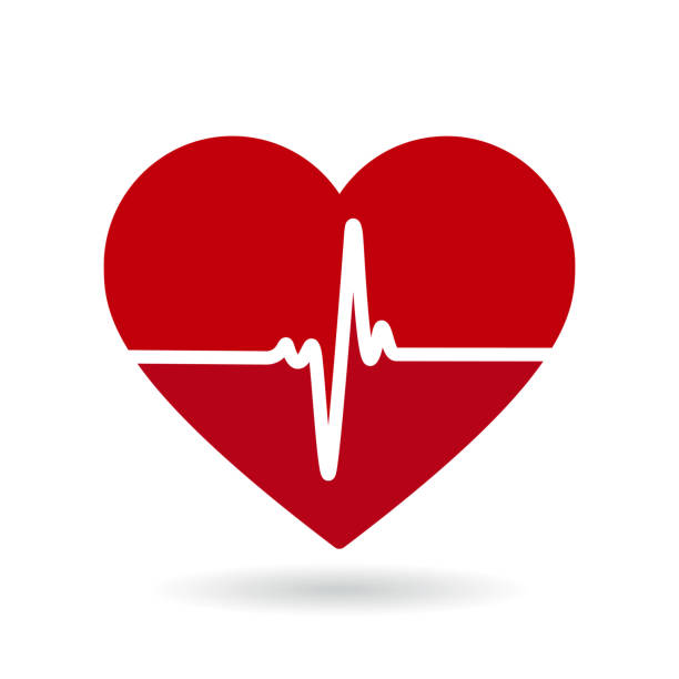 illustrazioni stock, clip art, cartoni animati e icone di tendenza di heartbeat line vector icon. cardiogram, health logo - elettrocardiogramma