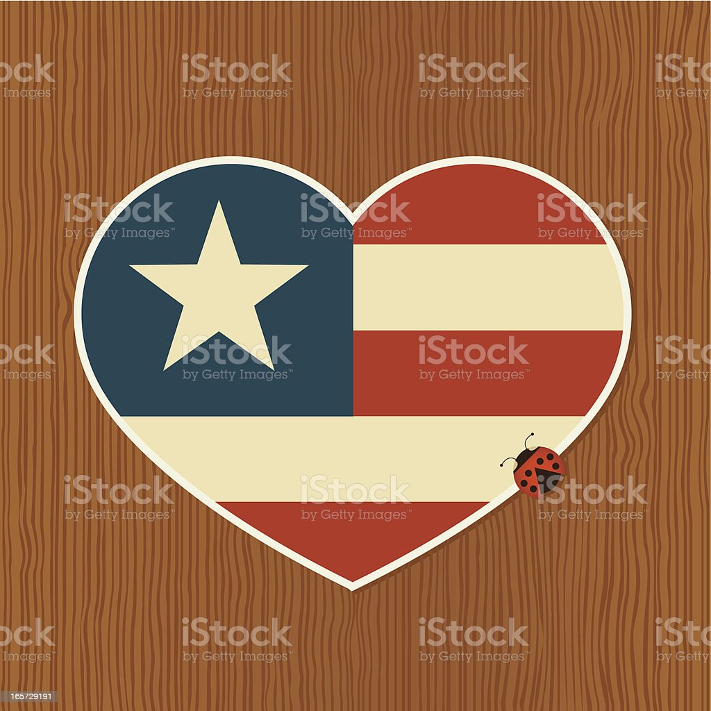 Heartbeat of America vector art illustration