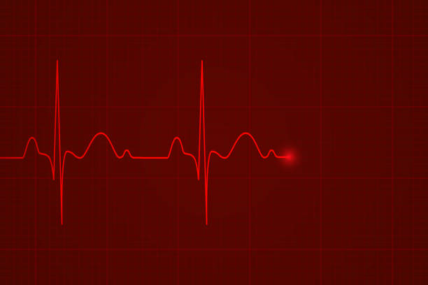 Heartbeat on the monitor Heartbeat on the monitor, vector background pulse trace stock illustrations