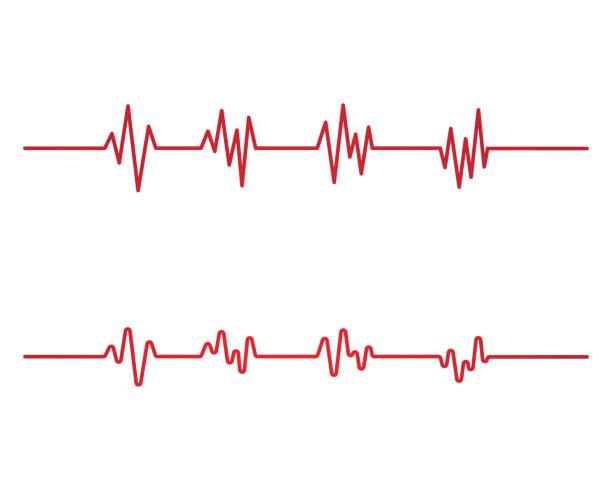 Heartbeat pulse icon illustration Art design health medical heartbeat pulse icon illustration pulse trace stock illustrations