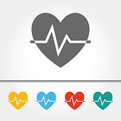 Heartbeat Single Icon Vector Illustration