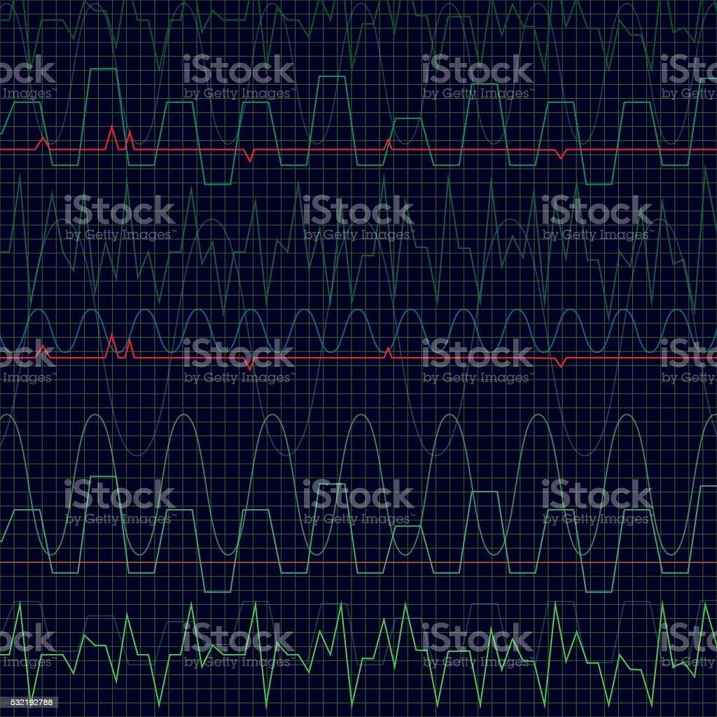 Heartbeat vector art illustration