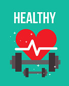 heartbeat weight fitness dumbbells healthy