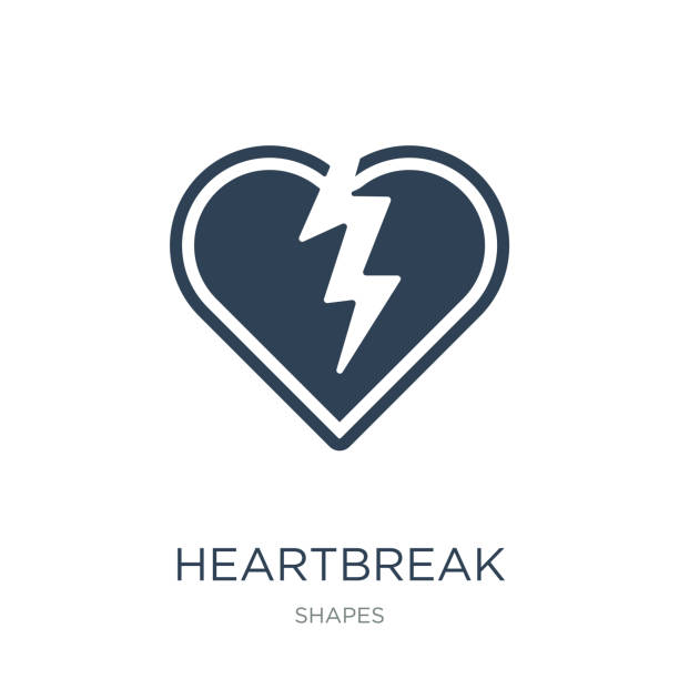 heartbreak icon vector on white background, heartbreak trendy filled icons from Shapes collection, heartbreak vector illustration heartbreak icon vector on white background, heartbreak trendy filled icons from Shapes collection, heartbreak vector illustration alimony stock illustrations