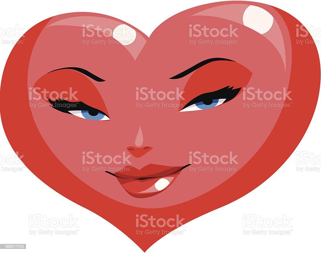 heart-face royalty-free stock vector art